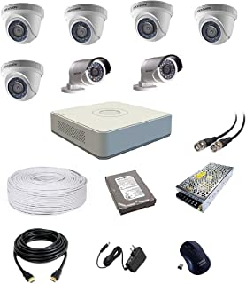 Hikvision Ultra HD 2MP Cameras Combo KIT 8CH HD DVR, 5 Dome, 2 Bullet Camera, 1 TB Hard Disk, Wire ROLL, Power Supply and ...