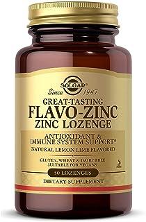 Solgar Flavo-Zinc Lozenge, 50 Count - Great-Tasting Lemon Lime Flavor - Antioxidant, Immune System Health - Highly Absorba...