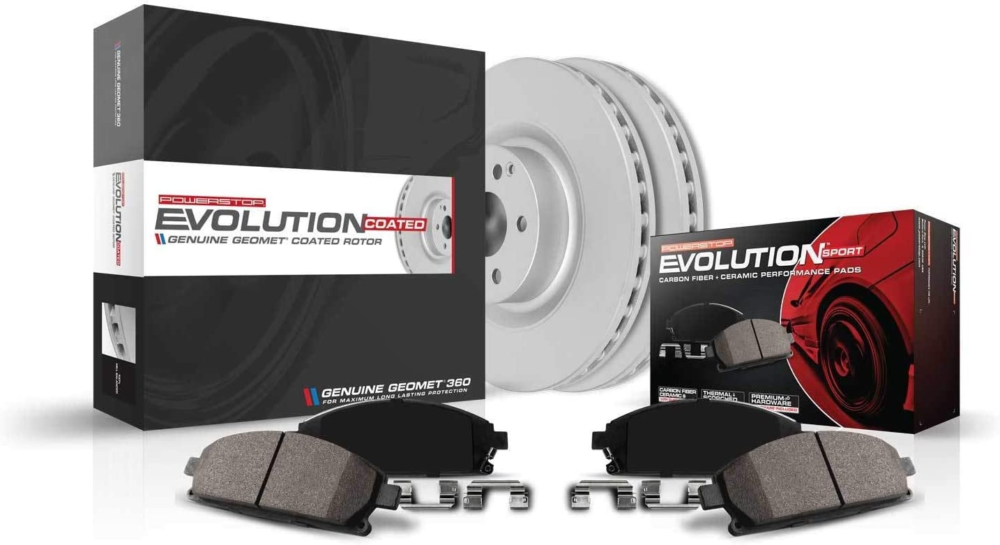 Power Stop CRK572 Front trend rank Z23 Coated Kit Evolution Brake Geomet New Shipping Free