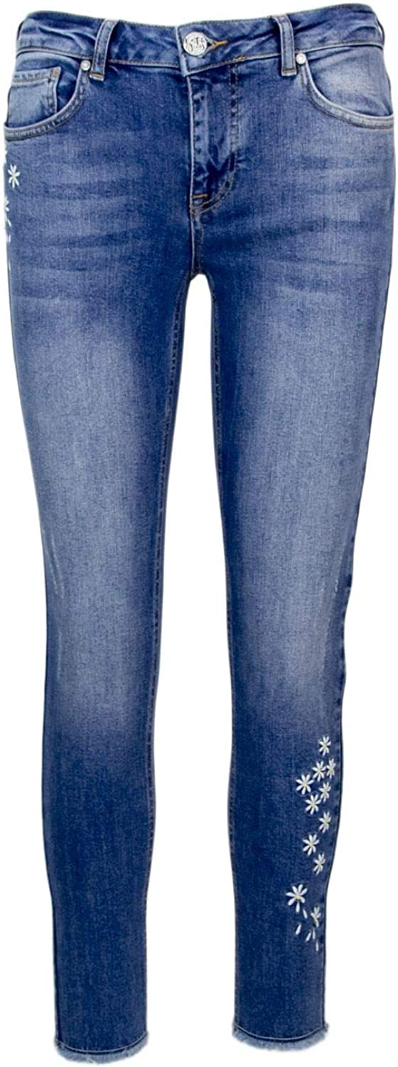 Desigual Women's 18SWDD49blueE bluee Cotton Jeans