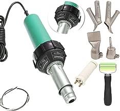 Go2Home 1600W Plastic Welder Hot Air Gun Torch Welding Heat Gun Handhold Rod with Speed Nozzles Pistol Hot Gas Pistol