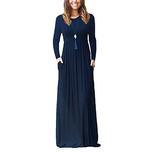 fashionablestyle exclusive shoes hot products Navy Long Maxi Dress: Amazon.co.uk