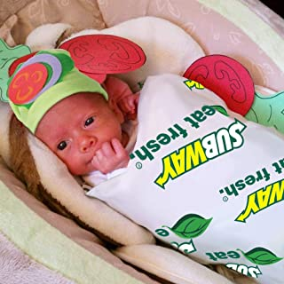 Baby Halloween Costumes - Sandwich Costume w Hat - Photography Props for Newborn Pictures Infant Boy Girl 0-3 6-9 12-18 Months White Green