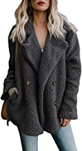 Realdo Women's Casual Solid Cardigan Warm Parka Ladies Open Front Coat with Pocket