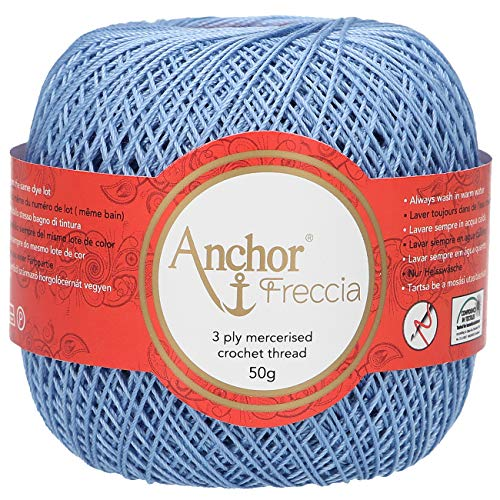 Anchor Freccia - Gomitolo di filo da uncinetto, 100% cotone, spessore 12,...