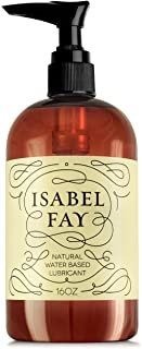 16oz, NO Parabens NO Glycerin, Natural Personal Lubricant for Sensitive Skin, Isabel Fay - Water Based - Best Personal Lube for Women and Men