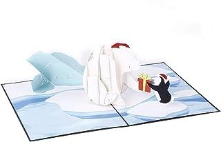 Liif Polar Bear 3D Pop Up Christmas Card, Happy Christmas Cards For Kids, Holiday Card
