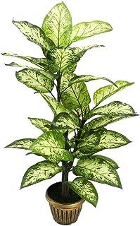 YATAI نبات أخضر صناعي طبيعي تقريبًا 1.2 متر من نبات وهمي بوعاء صناعي في وعاء بلاستيكي مع ترتيب عشب طحالب شجرة صناعية للمنز...