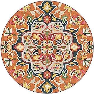 Tapis Ronds Tapis Lavables À Motif De Mandala Vintage pour Sol, Tapis De Sol Contemporains, Tapis À Poils Longs pour Lit D...