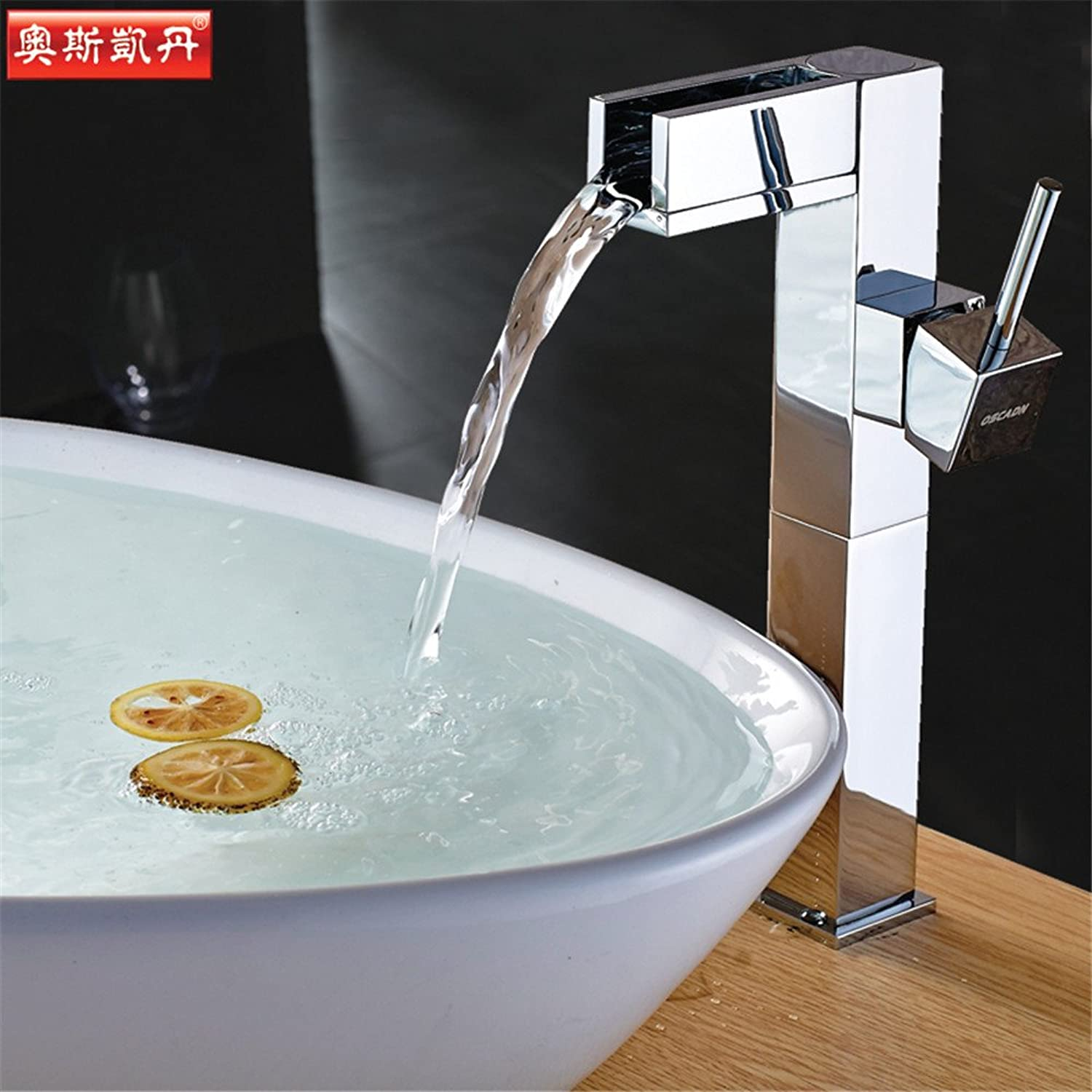 Bijjaladeva Antique Bathroom Sink Vessel Faucet Basin Mixer Tap All Copper Single Handle hot and cold water basin water surface of the tub faucet waterfall faucet square Faucet