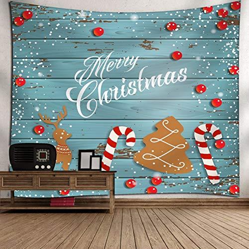 LDIW Decoraciones Navideñas, Tapiz de Navidad Tela Impresión Tapicería Decoraciones De Pared para El Dormitorio...