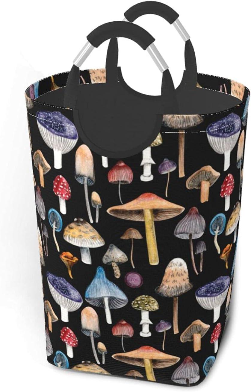 4 years warranty XKDIJIUJB Colorful Mushrooms Fashion Printe Basket Outlet ☆ Free Shipping Laundry Large