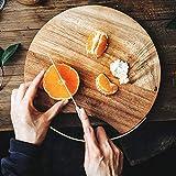 NKLL Cojín de la Silla Placa de Cocina de Madera de Madera Alimentos de Corte Bandeja Entera Pizza de Pan Sushi Junta Duradero Espesar Antideslizante florero