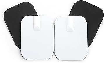 Electrodos pequeños de caucho reutilizables - Parches conexión de clavija universal 2mm - (45x60mm) - Almohadillas calidad axion