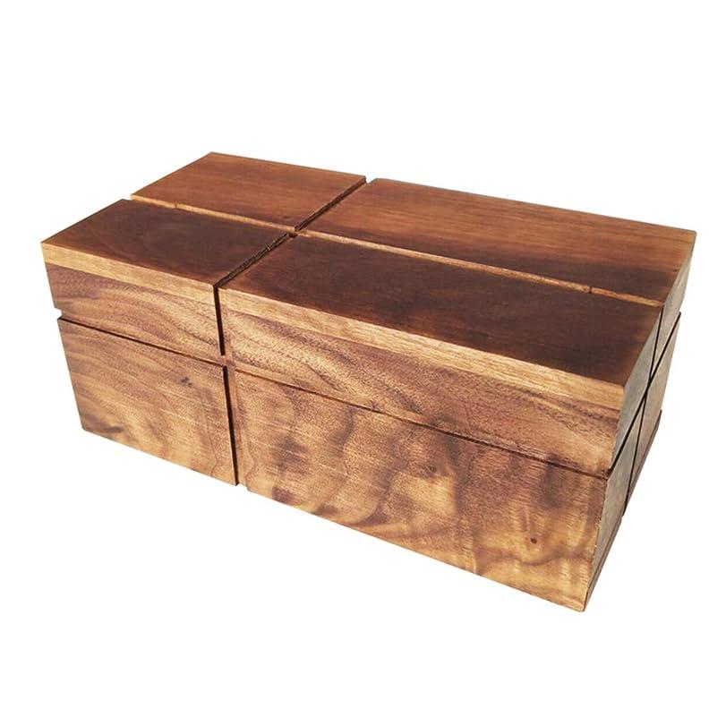 乗算有用比べるGWM 純木長方形ホームデスクトップリビングルームティッシュボックスペーパータオルディスペンサー、底プル充填ティッシュ、27×14×10センチ
