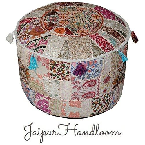 JaipurHandloom - Taburete indio, tipo puf, vintage, funda ...