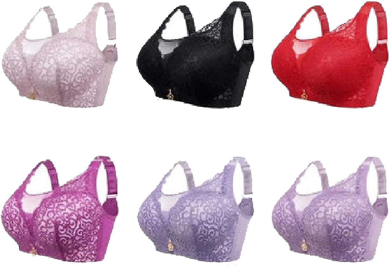 Cobama Women's 6 Pack Bralette Padded Unlined Push Up PlusSize Bras
