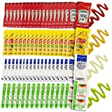 Grab-n-Go Condiment Packs - 50 Single Serve Pouches of Each: Ketchup, Mustard, Relish, and Mayo - Great for Picnics, Boxed Lunch, BBQ, Travel, Picnic and Parties (200 Condiment Packets Total)