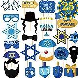 Hanukkah Party Photo Booth Props Happy Hanukkah Party Decorations Hanukkah & Chanukah Photo Booth Props Kit Chanukah Party Favor for Holiday Party Fun Hanukkah Party Supplies