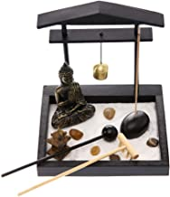 Zen Garden Buddha Statue Archway Mini Garden Kit with Sand Rocks Rake Tower Incense Burner Best Gift