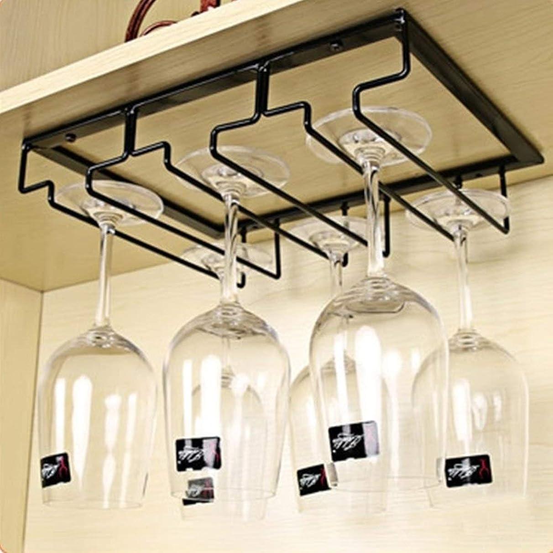 Other Bar Accessories - Hanger Display Black Organizer Bar Wine Glass Holder Portable Under Cabinet Iron Stemware Rack - Other Accessories Bar