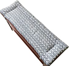 YLLN Long Bench Cushion with Fixing Ties,Swing 2 or3 Seater Bench Mat Pad Replacement Mattress Travel Seat Pad Indoor Outd...