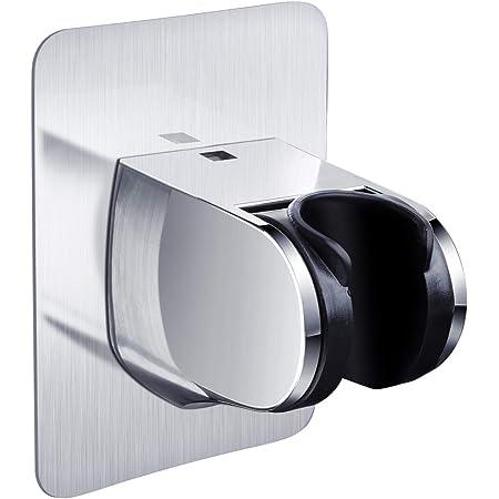 シャワーフック 強力粘着式 シャワーヘッドホルダー 角度調整 シャワーラック