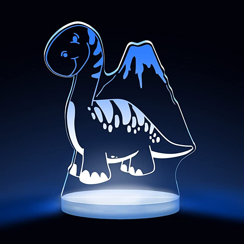 Total Dreamz Dinosaur Kids Multicolor LED Night Light With Interactive Remote 8