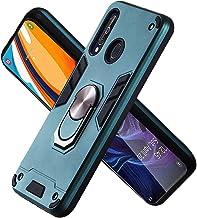 Funda para Samsung Galaxy M40 Soft TPU + Duro PC Doble Parachoques Cubierta a Anillo Soporte con Soporte y Carcasa Desmontable, Funda Protectora Serie Armadura (Verde Oscuro)