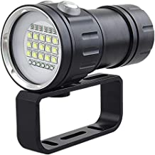 Submersible LED Spotlight Powerful 15000 Lumen, 7 Modes 80M Scuba Diving Underwater Flashlight, Dive Photography Video Torch, Suitable for Diving