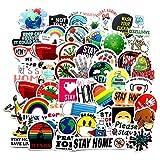 JZLMF 50 consejos de graffiti pegatinas para maleta, equipaje, casco de coche, pegatinas impermeables