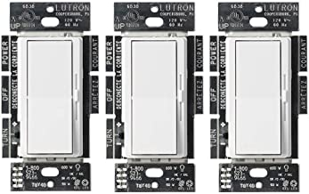 Lutron Diva LED+ Dimmer for Dimmable LED, Halogen and Incandescent Bulbs | Single-Pole or 3-Way | DVCL-153P-WH-3 | White (3 Pack)
