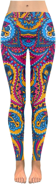InterestPrint Ornate Pattern Print Low Rise Ladies Yoga Running Leggings