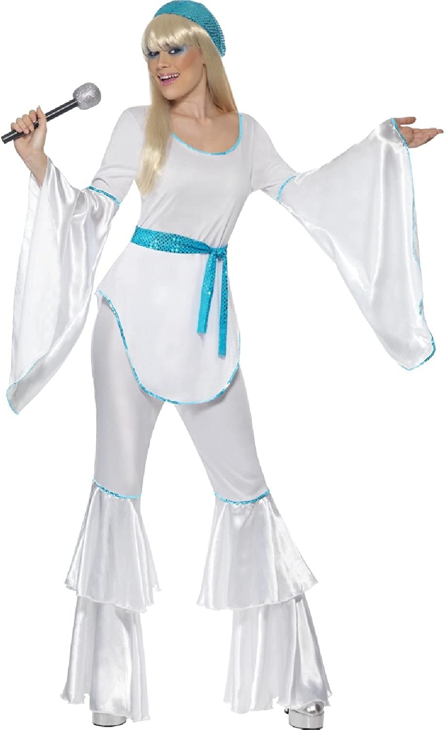 Ladies Sexy 70s 1970s Super Trooper Pop Star Hen Do Night Fancy Dress Costume Outfit (UK 1618)