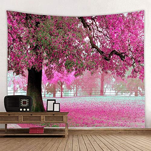 siqiwl Tapiz hermoso rojo grande impreso gran árbol tapiz de pared barato Hippie colgante de pared bohemio Tapices de pared mandala decoración de pared