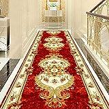 Alfombras de pasillo de estilo europeo Hotel Alfombra de pasillo largo pasillo Alfombra de entrada para el hogar Alfombra de piso Alfombras de boda Alfombra roja de pasillo, 1, Ancho 1.1m Largo 4m