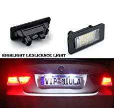 Lightdu License Plate Lights 12V LED White Lamps for BMW 1 3 5 Series X1 X3 X5 X6 M3 (2Pcs)