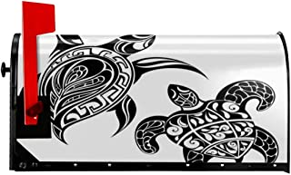 """FUWANK Magnetic Mailbox Cover - 18""""W x 21""""H, Tribal Style Spiritual Sacred Ethnic Featured Loggerhead Art Figures Print,Mailbox Wraps Post Letter Box Cover"""