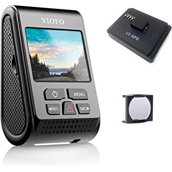 VIOFO A119 V3 2560 x 1600P Quad HD+ Dash Camera with GPS Logger and CPL 2020 Edition