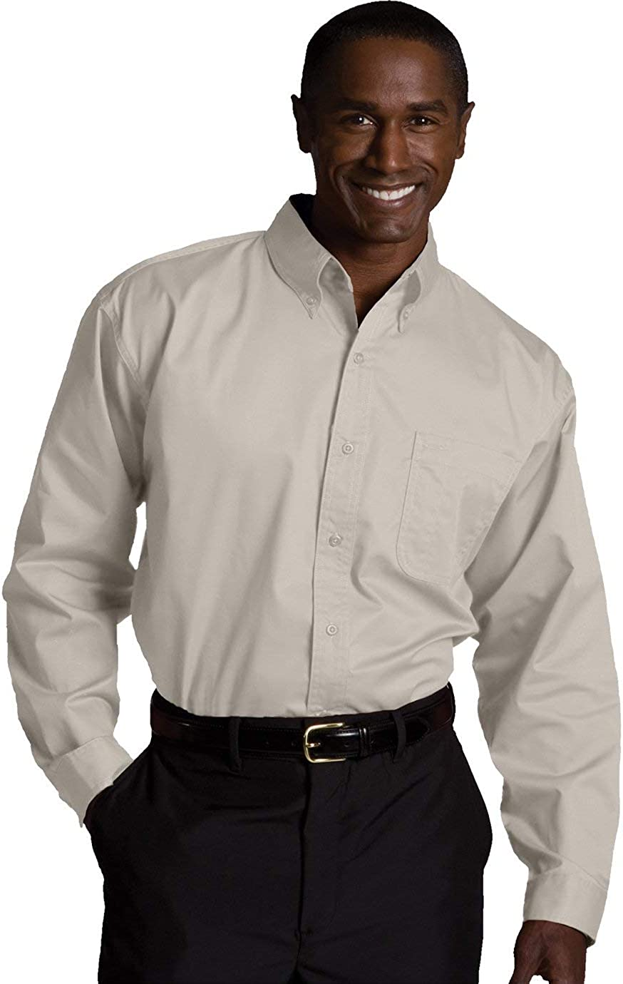 Edwards Men's Cottonplus Long Sleeve Twill Shirt