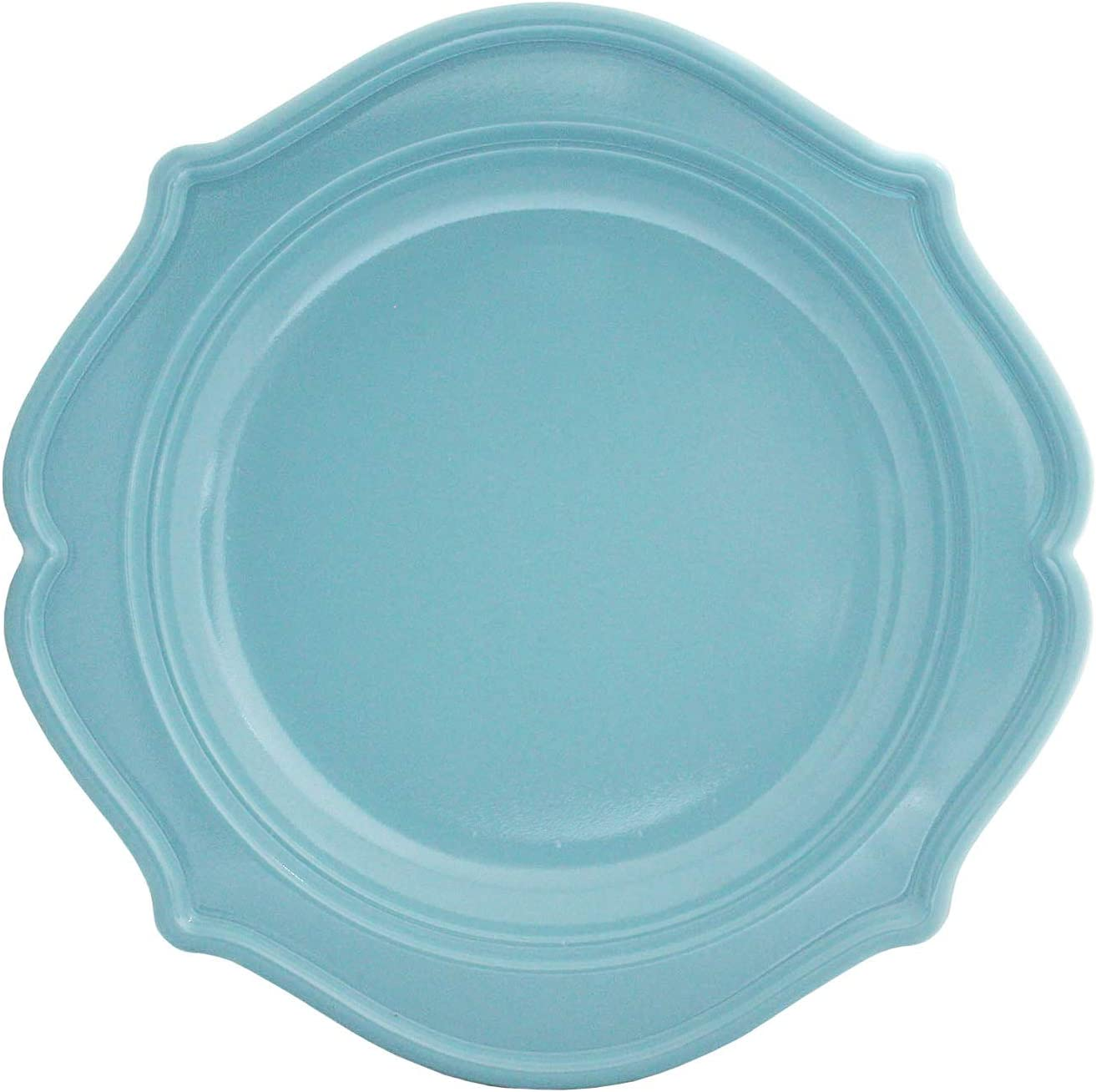 Tiger Chef 60-Count 8-inch Sea Blue NEW before selling Color Scalloped trend rank D Rim Round