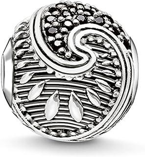 Thomas Sabo Femmes-Bead Maori Karma Beads Argent Sterling 925 noirci Pavé d'Oxydes de Zirconium noirs K0214-643-11