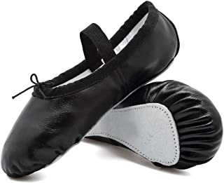 Ballet Slippers Leather Dance Shoes Yoga Gymnastics Flats(Toddler/Little/Big Kid/Women)