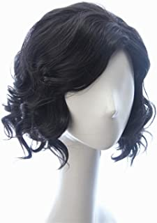 Soul Wigs: Jon Snow Hair Short Curly Fluffy Black Costume Cosplay Wig inspired by Game of Thrones