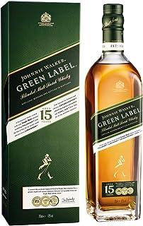 Johnnie Walker Green Label Blended Scotch Whisky – Aus den vier Ecken Schottlands direkt ins Glas – In edler Geschenkverpackung – 1 x 0.7l