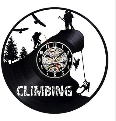 Vintage Creative vinilo reloj regalo para escaladores: Amazon ...