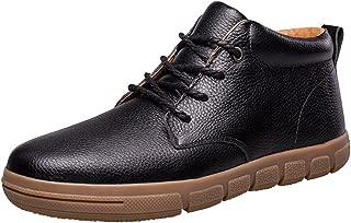 Mens Leisure Leather Fur Soft Rubber Short Boot Shoes