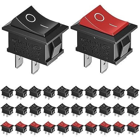 20x Ultra Mini Wippschalter 1xein 9x14mm Schwarz Wippenschalter Ein Aus Schalter Auto