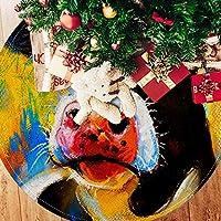 ツリースカート クリスマスツリースカート 牛 画 マルチ ホリデーデコレーション メリイクリスマス飾り 下敷物 可愛い 雰囲気 クリスマスパーティー 直径107cm