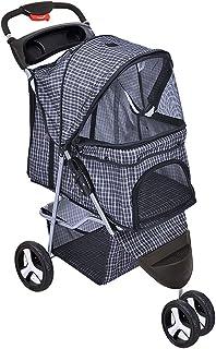 PaWz Pet Stroller 3 Wheels Dog Cat Cage Puppy Pushchair Travel Walk Carrier Pram